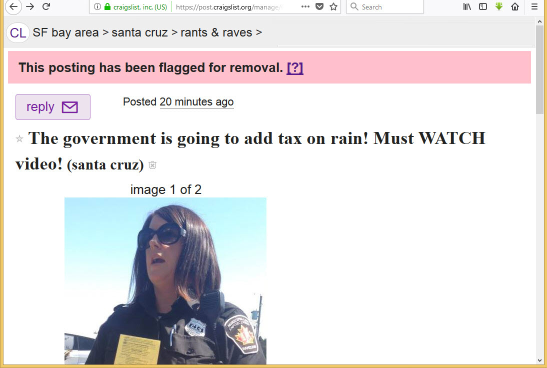 How to flag a craigslist ad to remove it